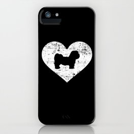 Lhasa Apso heart iPhone Case