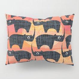 Black Rhino Sunset Pillow Sham