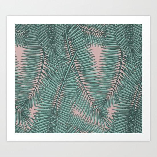 Palm dawn Art Print