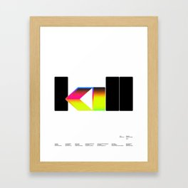 Kill Framed Art Print