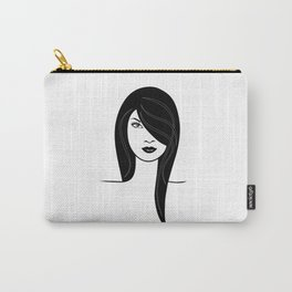 Fashion girl illustration Carry-All Pouch