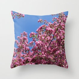 Spring blossoms pink Throw Pillow