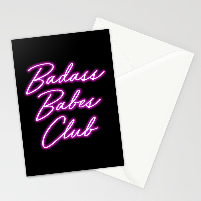 Badass Babes Club Stationery Cards