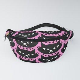 Mid Century Modern Cat Pink Black Fanny Pack