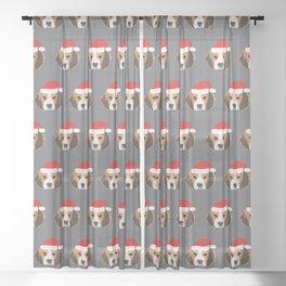Christmas Beagle Sheer Curtain