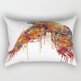 Flying Hawk Watercolor Painting Rectangular Pillow
