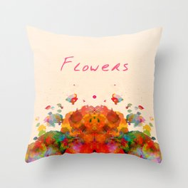 """Flowers - Well - if anybody"" by Emily Dickinson Throw Pillow"