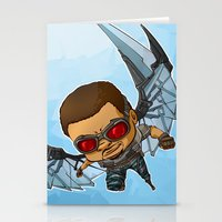 falcon Stationery Cards featuring Falcon by Meekobits