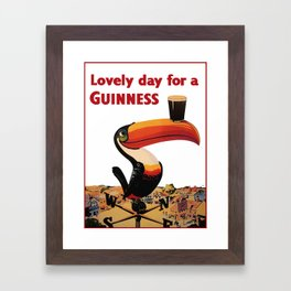 Advertising Vintage Poster - Lovely Day for a Guinness - Beer - Drinks Advertising Vintage Poster Framed Art Print