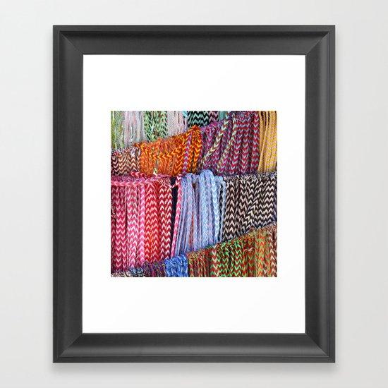 Color threads Framed Art Print
