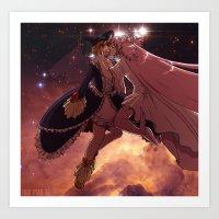 madoka magica Art Prints featuring Madoka Magica Walpurgisnacht Kiss by Erin Ptah