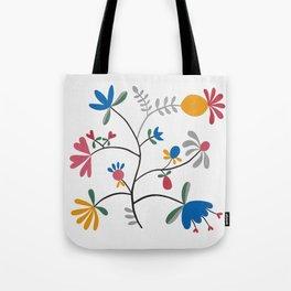 Kurbits – Flower – Blue Bell – Scandinavian Folk Art Tote Bag