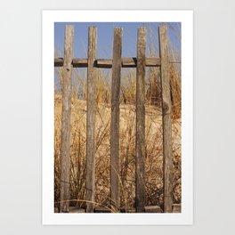 Fence to the Sky! Art Print