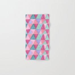 pastel triangle pattern Hand & Bath Towel