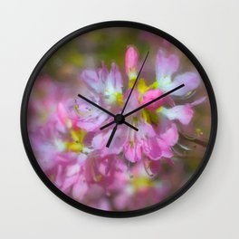 Pink Azaeas Wall Clock