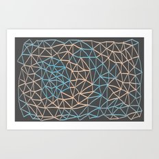 Non-linear Points Art Print