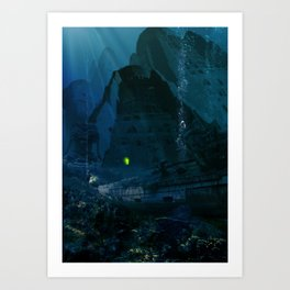 H.P. Lovecraft The Temple Art Print