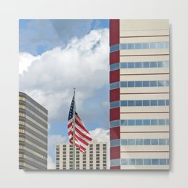 Stars Stripes and Buildings Metal Print