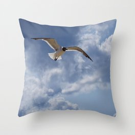 Solo Flight Throw Pillow