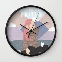 Let's go on an adventure Wall Clock