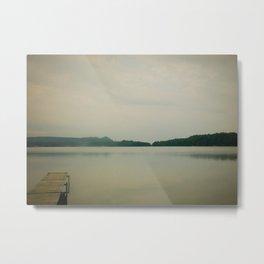 Herring Lake Dock Metal Print