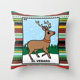 Christmas Loteria El Venado Throw Pillow