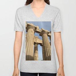 Ancient Greek Temple Unisex V-Neck