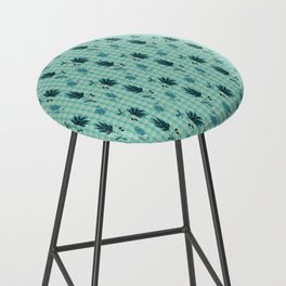 country blue flowers pattern Bar Stool