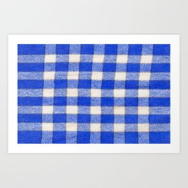 Gingham / vichy Pattern -strips,fashion,squares,french,vichy, gingham,bistrot,textiles,indie Art Print