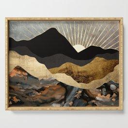 Copper and Gold Mountains Serving Tray