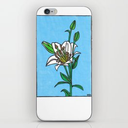 white lily iPhone Skin