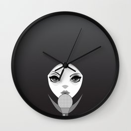 The Girl with The Mic Wall Clock