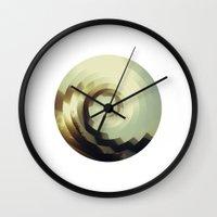 wave Wall Clocks featuring Wave by matt market