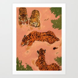 Tiger Beach Art Print