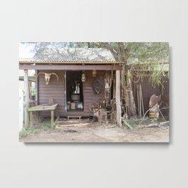 Old Timers Hut Metal Print