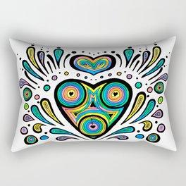 Rainbow Hearts Rectangular Pillow