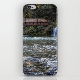 Bridge Over Hackleman Creek iPhone Skin