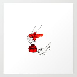 A Female Coffee Barista Art Print