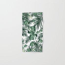 Tropical Jungle Leaves Pattern #4 (2020 Edition) #tropical #decor #art #society6 Hand & Bath Towel