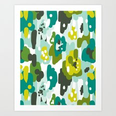 Painted Camo Art Print