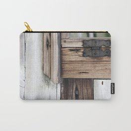 gray brown window frame Carry-All Pouch