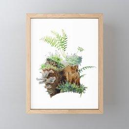 Mossy Stump Framed Mini Art Print