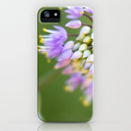 Purple Wildflower iPhone Case