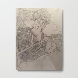 Vampire Knight Sketch Print Metal Print