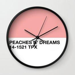 peaches n' dreams Wall Clock