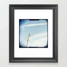 Crossed wires Framed Art Print