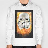 stormtrooper Hoodies featuring Stormtrooper by Mishel Robinadeh