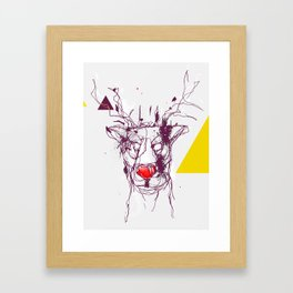 Red nose raindeer Framed Art Print