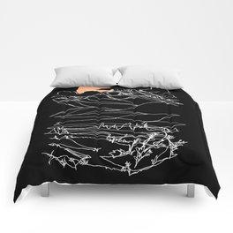 Moonrise on Mount Begbie Comforters