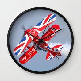 Stunt plane Wall Clock